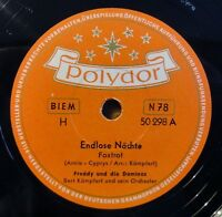"Freddy und die Dominos - Endlose Nächte - Bel Sante - Polydor - /10"" 78 RPM"