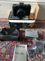 VINTAGE RETRO SHARP BOXED NIPPON DELUXE 35MM FOCUS FREE CAMERA WITH MANUAL