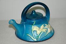 Vintage | ROSEVILLE Pottery BLUE ZEPHYR LILY Teapot | NO CHIPS OR CRACKS