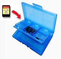 12 x Nintendo Switch Blue Game Card Case Holder UK Seller
