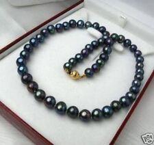"""Charming! 8-9MM Black Tahitian Perlenkette 18 """""""