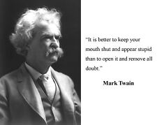 Mark Twain Famous Quote 8 x 10 Photo Picture #m11