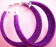 E1030 fashion dull polish circle hoop earrings women girl jewelry charm