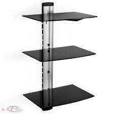 Soporte de pared para reproductores de DVD y receptores 3 estantes tv