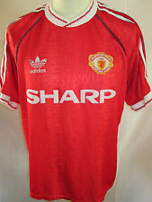 "Manchester United 1990-1992 Home Football Shirt Size Adult 42""-44"" Red Devils"