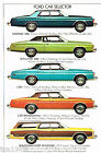 1974 Ford BIG CARS Brochure: LTD,GALAXIE,CUSTOM 500,Country Squire Station Wagon