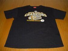 NFL SUPER BOWL XL RING PITTSBURGH STEELERS RING BLACK COTTON T-SHIRT BOYS 16/18