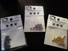 """Cyclop Brass Beads 5/32"""" Premo Quality Nickel Gold Black Copper - Fly Tying"""