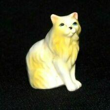 Vintage Hagen Renaker ? Persian Cat White & Yellow Miniature Dollhouse Fairy #1