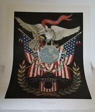 1890 U. S. Marine Corps Emblem Gold & Silk Embroidery Art Print