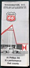 WASHINGTON DC  1971 Phillips 66 Gas Station Highway Map