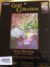 CHERRY BLOSSOMS counted cross stitch kit  CANDAMAR DESIGNS  sealed #52404