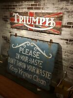 Virginia Sign ANTIQUE ADVERTISING Hand Painted Lettered SIDED Bay Environment