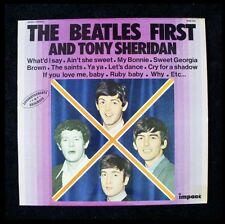 THE BEATLES - FRANCE PRESSING - FIRST AND TONY SHERIDAN - IMPACT RECORD 6886 556