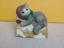 Calico Kitten Up on the Rooftop 1999 Priscilla Hillman Enesco Figure Figurine
