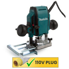 Makita RP0900X 110V Heavy Duty 1/4 or 3/8in Plunge Router With Guide & Wrench