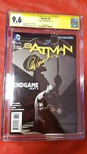 DC Comics New 52 Batman #38 End Game CGC Graded 9.6 Signed by Greg Capullo JC