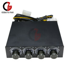 """4 Channel Fan Speed Control Controller LED Cooling Front Panel For 3.5"""" PC CPU"""