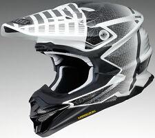 Shoei Adult White/Black VFX-EVO Malcolm Dirt Bike Helmet Snell DOT
