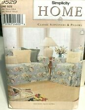 9529 Simplicity Home Pattern Slipcovers & Pillows UNCUT
