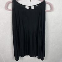 Old Navy Cold Shoulder Black Top Long Sleeve Womens Size Small