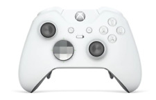 """""""White Edition"""" Xbox One ELITE Rapid Fire Modded Controller 40 Mods for COD&more"""