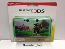 NINTENDO 3DS ZELDA OCARINA OF TIME - CRYSTAL ARMOR CASE - NUOVO NEW COLORE VERDE