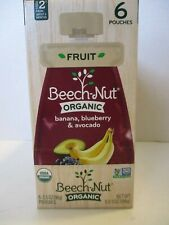 BEECH-NUT ORGANIC BANANA, BLUEBERRY, & AVOCADO 6 POUCHES STAGE 2 BABY FOOD