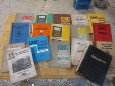 Lot of 17 Vintage GMC HD Truck Service Manuals 1960s & 1970s GM