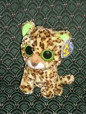 """Ty Beanie Boo 6""""~SPECKLES ~ Leopard ~2012~ solid eyes ~purple tag~ MWMT~ RETIRED"""