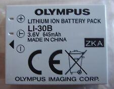 Batterie D'ORIGINE OLYMPUS Li-30B Li30B µ-mini Digital NEUVE GENUINE AKKU