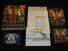 Age of Empires II The Conquerors Expansion CAJA GRANDE JUEGO PC complete todos los insertos