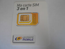 carte sim prépayée national 10 euro de communication inclus la poste mobile  sfr