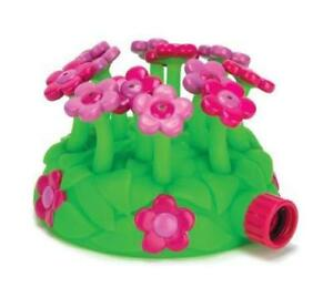 Kids Melissa & Doug Pink BLOSSOM Sprinkler Hours of Water Fun Play Green Orange