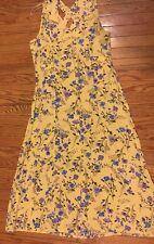 Erika Beautiful M Yellow Blue Purple Sleeveless Rayon Long Dress EUC 5607-2