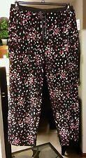 NEW NWT LAURA SCOTT multi colored pajama pants. Plus size 1X inseam 29