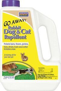 Bonide Go Away Rabbit, Dog & Cat Repellent. People & Pet Safe! Non Toxic! 3 lbs.