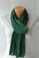 178b5edfed7e5 UNISEX Jersey Damen Herren Schal Crinkle Tuch Knitter Optik Crash Uni Farben