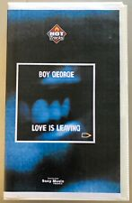BOY GEORGE Love Is Leaving *RARE FRENCH PROMO ONLY VHS VIDEO SINGLE Culture Club