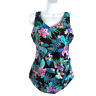 Swimsuits For All One Piece Swimsuit Floral Print Multicolored Women's Size 14