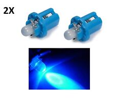 2 LUCI LAMPADA LED BLU T5 B8.5D lampadina auto 12V luce car cruscotto quadro