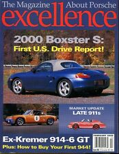 Porsche Excellence Magazine #91 February 2000 First U.S. Drive Report Boxster S