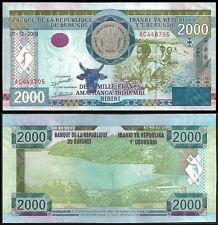 Burundi 2000 FRANCS 2008 P 47 UNC