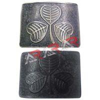 Scottish Kilt Belt Buckle Irish Shamrock High Quality Antique/Jet Black Finish