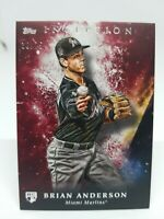 2018 Topps Inception Brian Anderson #60 Red 38/75 Miami Marlins
