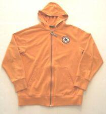 CONVERSE - youth size medium - orange - full zip - hooded jacket (aa)