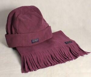 Jack Murphy Ben Nevis Fleece Hat & Scarf Set in Blackberry ONE SIZE