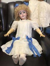 "Gorgeous Huge Antique German Bisque S & C Doll - 35"" Tall - Wonderful Dress"