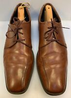 Ecco Men 47 EU 13 13.5 US Bicycle Bike Toe Lace Oxfords Brown Leather