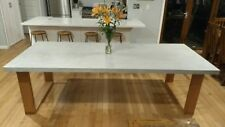 Concrete Dining Table - Hardwood Timber legs - Made to order
